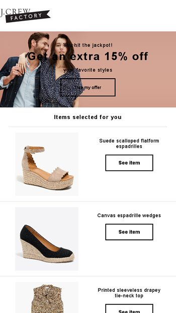 03951f80005 Check out what you left behind - J.Crew FACTORY Email Archive