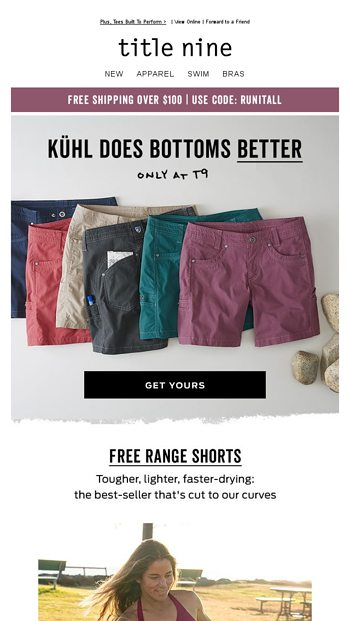 20227a5d80 From Trail To Town | KUHL Shorts - Title Nine Email Archive