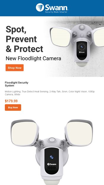 NEW! Meet the Floodlight Security Camera - Swann Email Archive
