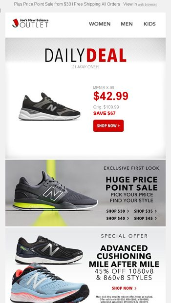 b9716c918482 Open This DAILY DEAL 60 Off Mens X 90 Performance Running Exclusives
