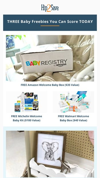 WHOA Baby! $175 Worth of FREEBIES 👶🎁 - Hip2Save Email Archive