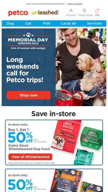 These paws are made for walking! - Petco Email Archive