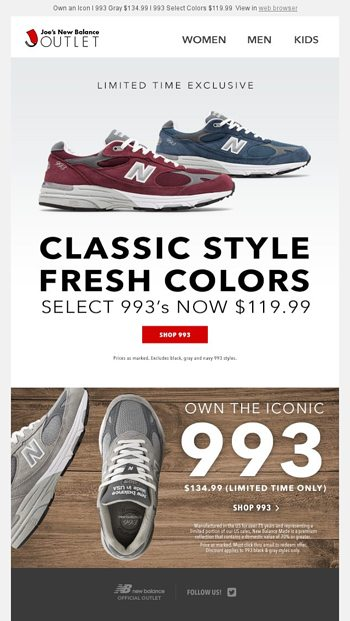 outlet store a55b3 5f512 1 More Day l 993 Exclusives from $119.99 - Joe's New Balance ...