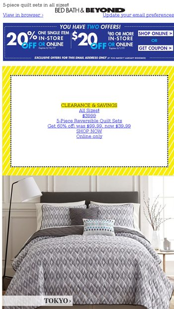 329c6ab62a WOW-worthy deals on bedding 🛏️at $39.99! Plus, your choice of TWO coupons!  - Bed Bath & Beyond Email Archive