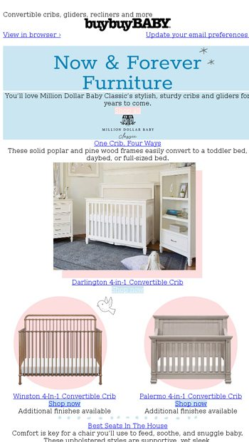 Pleasing Made For Keeps Nursery Furniture From Million Dollar Baby Ncnpc Chair Design For Home Ncnpcorg
