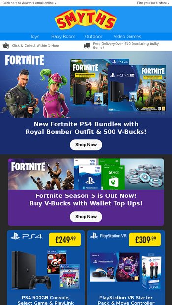 Fortnite Season 5 Is Out Now Top Up Your Wallet To Get Your Battle