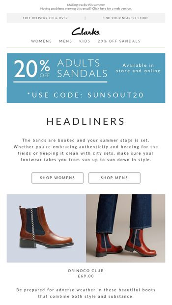 Clarks Archive Festival Email Sandals Your Guide20Off Footwear vIYy7gfb6