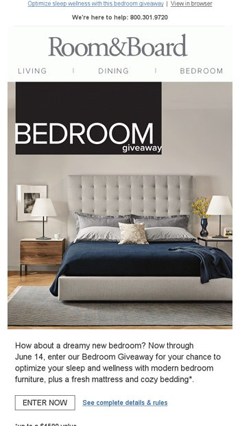 Enter for your chance to win new bedroom furniture! - Room ...