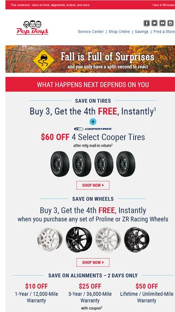 Don T Miss Our Biggest Deals The Pep Boys Email Archive
