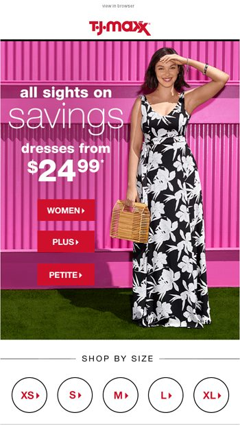 From $24.99: Perfect summer dresses! - T.J.Maxx Email Archive