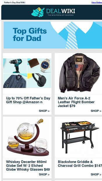 Top Gifts For Dad: Air Force Jacket $79 | Beer Making Kit $22