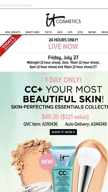 It S Today S Qvc Special Value Live Now 1 Day Only It Cosmetics