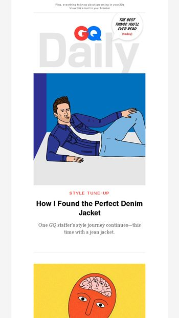 8dd5b692bfc How I Found the Perfect Denim Jacket - GQ Magazine Email Archive