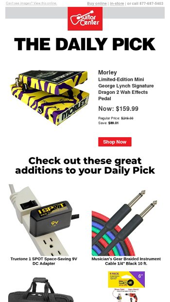 The Daily Pick featuring Fender - Guitar Center Email Archive