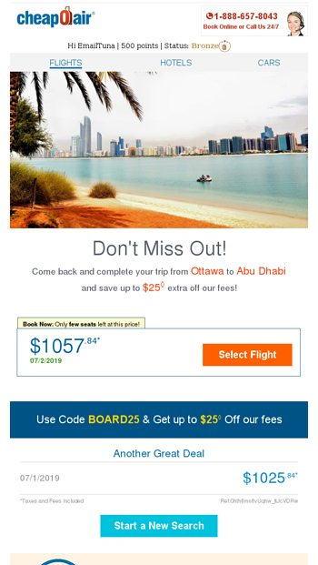 Major Airlines Sale: OW Flights from $38 20 - CheapOair