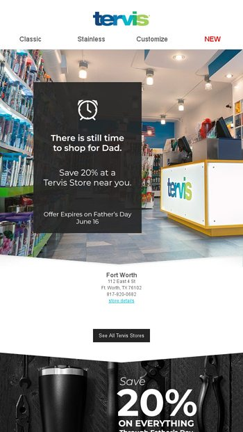 feea47d3131 Last Minute Dad Shopping? We've got it covered. - Tervis Email Archive