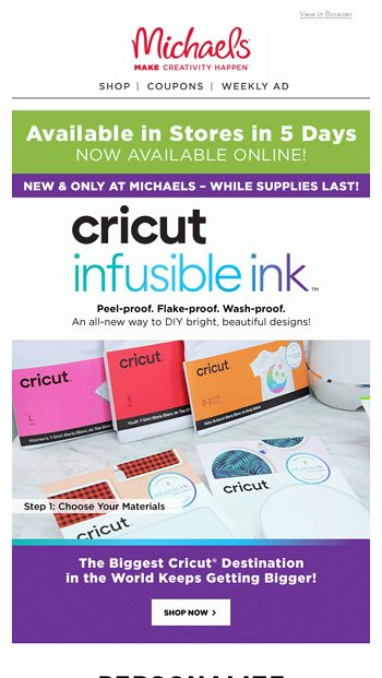 Special Alert ‼️ Cricut Infusible Ink Is Available Now Online
