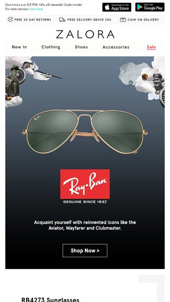 964bbd6277 ... singapore a5c0a 13db8; low price ray ban iconic sunglasses reinvented  zalora email archive 1fa62 c6c2d