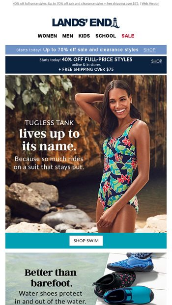 43930e0ee6 1 reason women love this swimsuit   40% off - Lands' End Email Archive