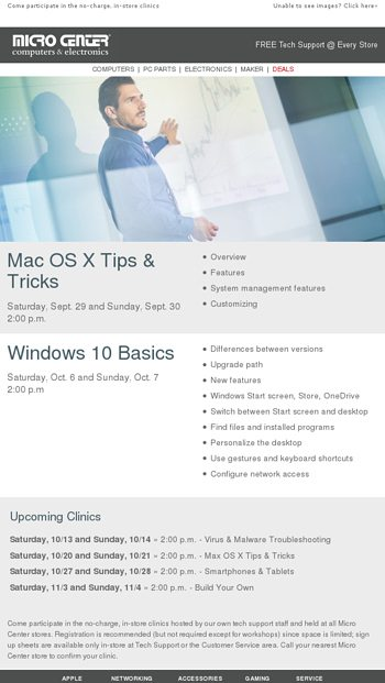 instore clinic update mac os x tips amp tricks september 29th amp 30th