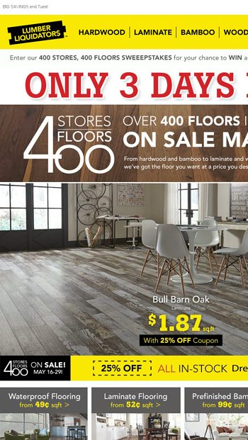 GET IT NOW! 25% OFF Dream Home Laminate + Financing