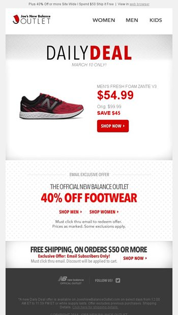 newest 8f577 edf6c Today s Daily Deal  Save  45 l Men s Fresh Foam Running - Joe s New Balance  Outlet Email Archive
