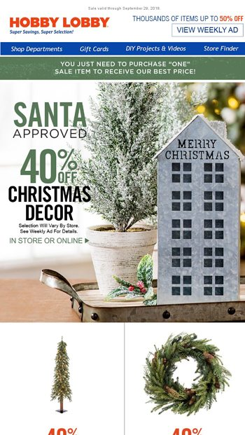 5 Ways To Save On Christmas Hobby Lobby Email Archive