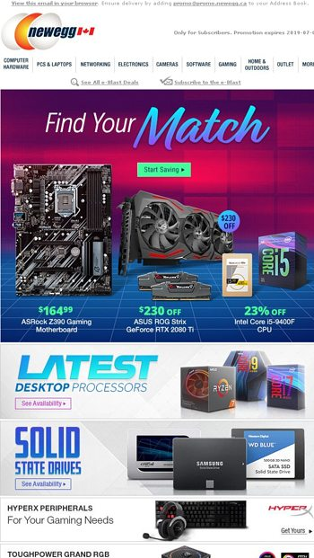 $230 OFF ASUS ROG Strix GeForce RTX 2080 Ti - Newegg ca Email Archive