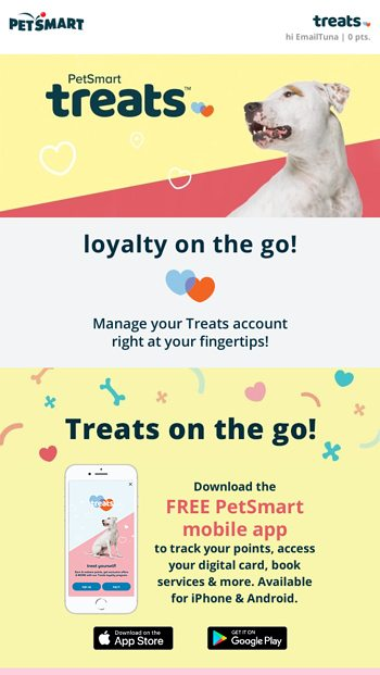 EmailTuna, keep Treats in the palm of your hand - PetSmart