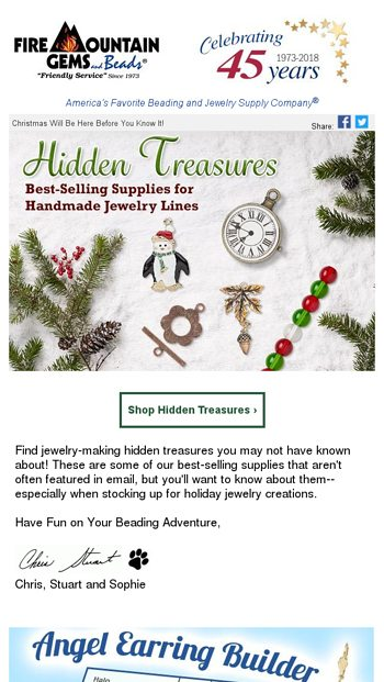 93b63384e Hidden Treasures: BEADS & Supplies for Holiday Jewelry - Fire Mountain Gems  Email Archive
