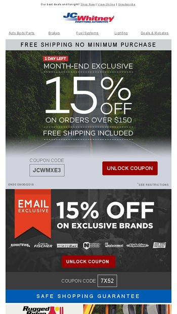 our 15 off no minimum discounts are sure to drive you nuts jc rh emailtuna com