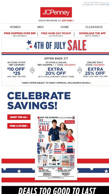 EXTRA 25% off! Memorial Day Sale this way ➡ - JCPenney Email Archive