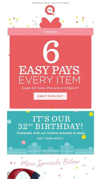 QVC Email Newsletters