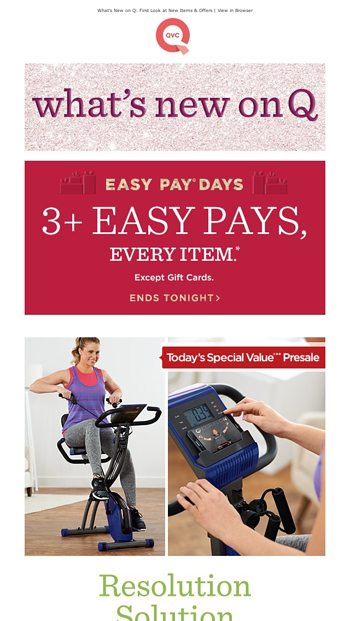 New on QVC: Sneak Previews & Special Deals - QVC Email Archive