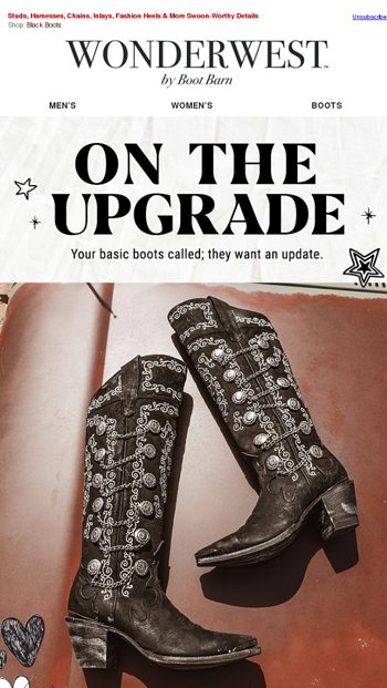 65db25c7a90 Sassy Black Boots On The Up & Up - Boot Barn Email Archive