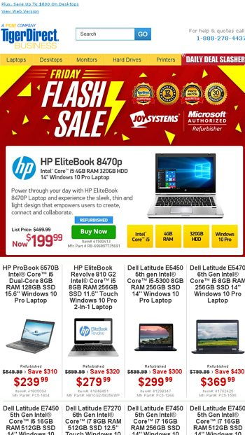 24 Hours Only! Windows 10 Laptops from $139 - TigerDirect