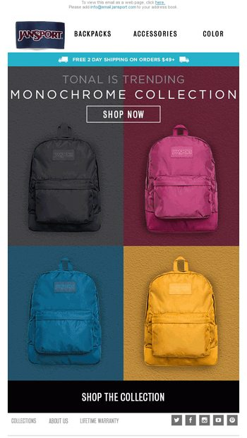 Find the Right Pack for you - JanSport Email Archive
