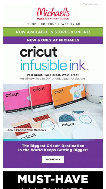 You're Invited to Our Big Cricut Tech Sale! - Michaels Email Archive