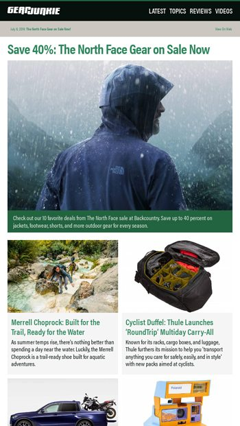 96bfab58c The North Face Gear on Sale Now! - GearJunkie Email Archive