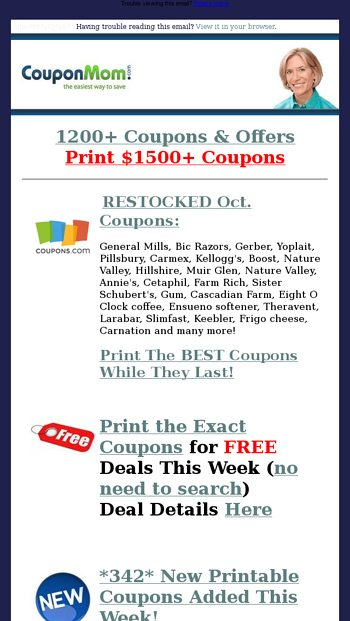 Cvs Alert 26 Free Deals Moneymakers Coupon Mom Email Archive