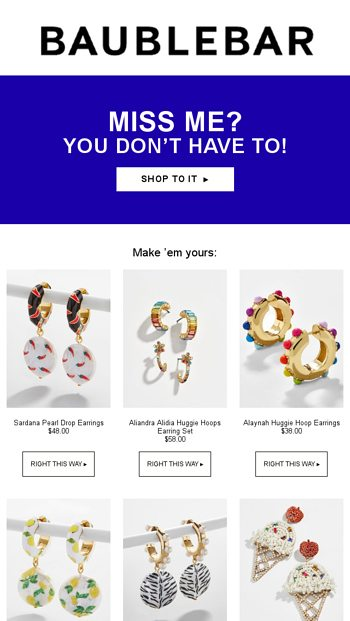 There's still time - BaubleBar Email Archive