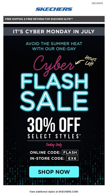Want 30% off? SKECHERS Email Archive