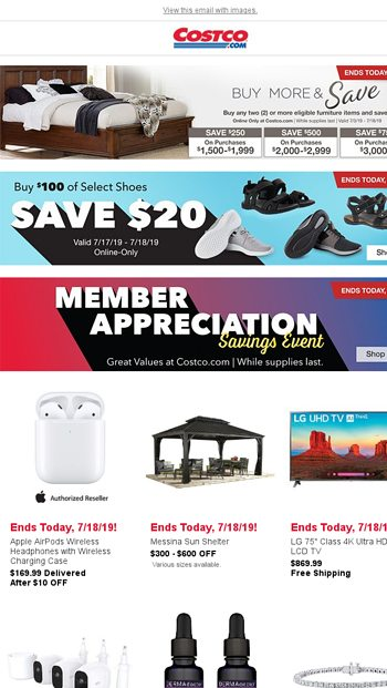 Member Appreciation Savings End TONIGHT! Don't Wait - While Supplies