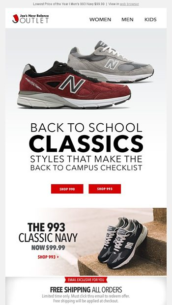 new product 42b3a 0c5a4 Iconic 993 - Back to Classics Sale - Joe's New Balance ...