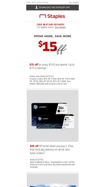 staples 25 off 100 coupon code online order