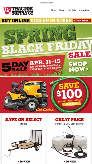 🌼Spring Black Friday starts NOW - Tractor Supply Company