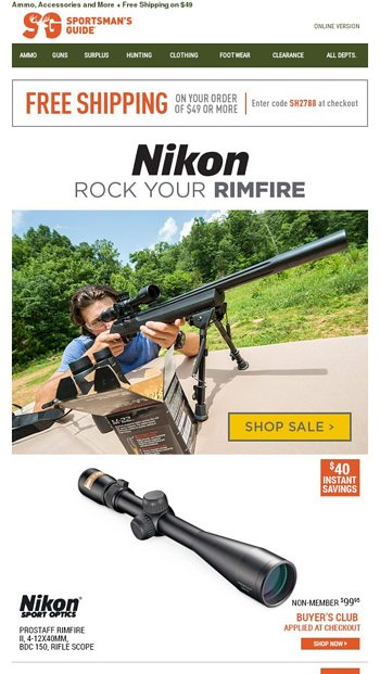 Rock your Rimfire with Nikon - Sportsman's Guide Email Archive