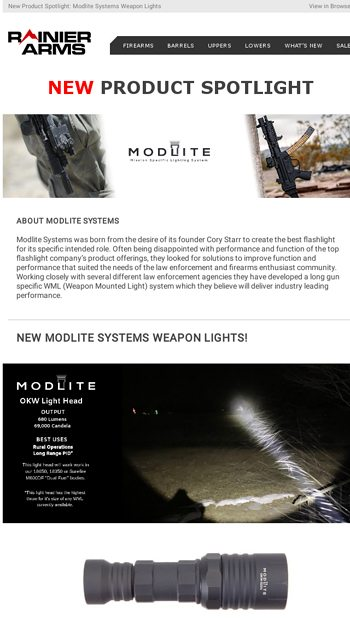 NEW Product Spotlight: Modlite Systems Weapon Lights