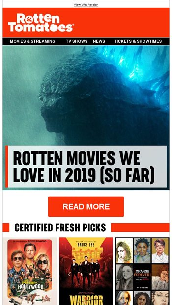 Rotten Tomatoes Email Newsletters