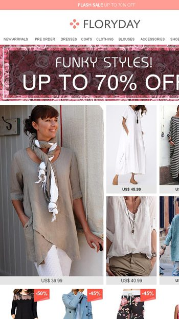 7af35d4bed97f Funky styles! Up to 70% off - Floryday Email Archive